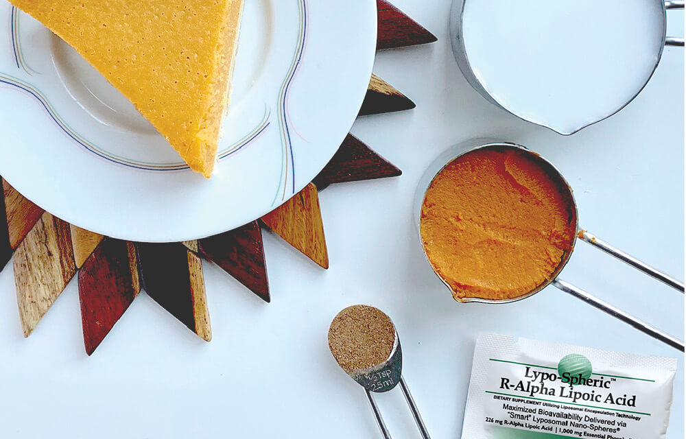 pumpkin pie shot ingredients: coconut milk, pumpkin, pumpkin pie spice, and lypo-spheric alpha lipoic acid