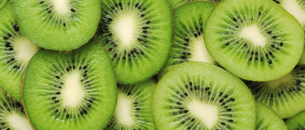 sliced kiwis are one of the best sources of vitamin c